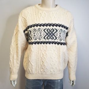 INISFREE Aran Irish Fisherman Sweater Celtic Knots